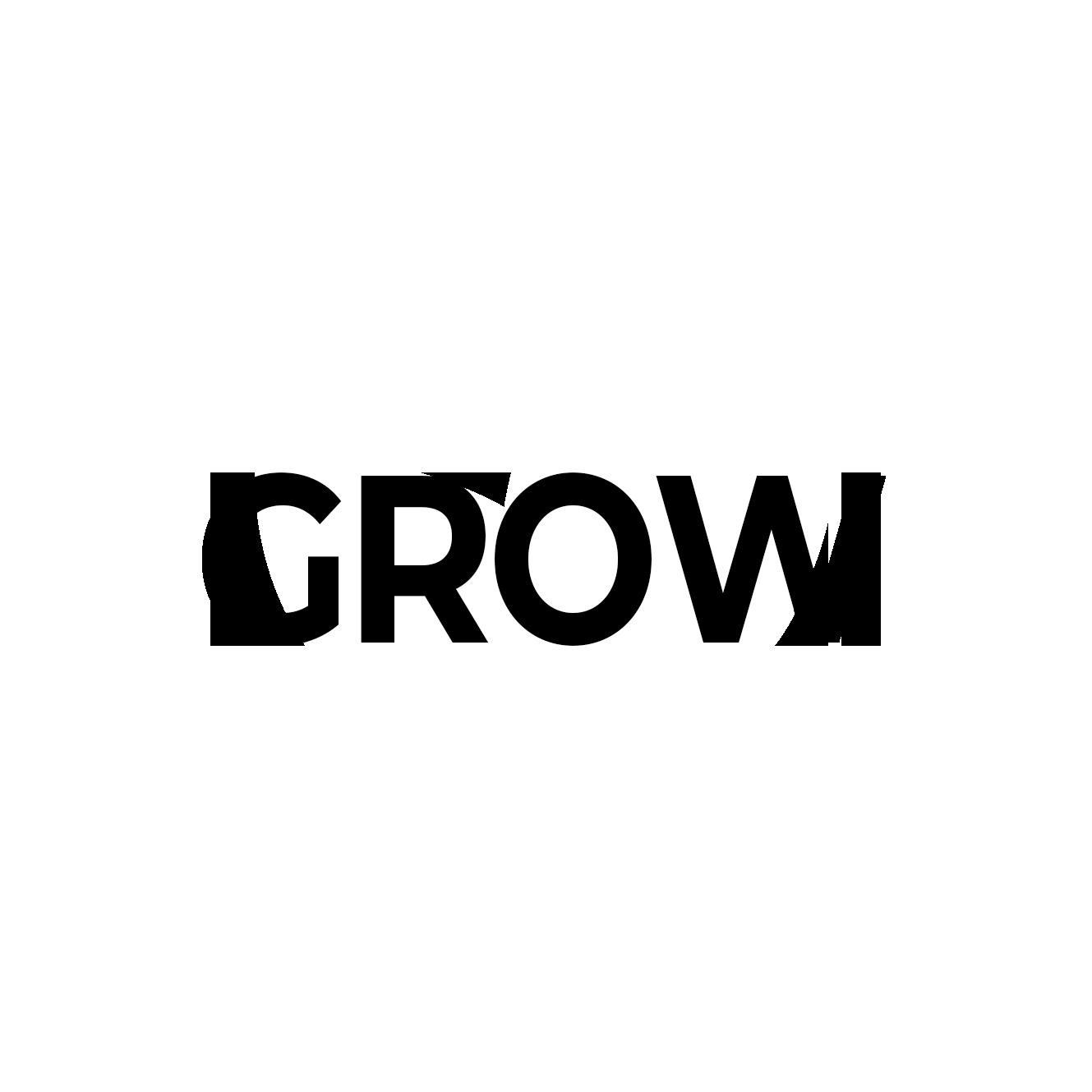 grow white word