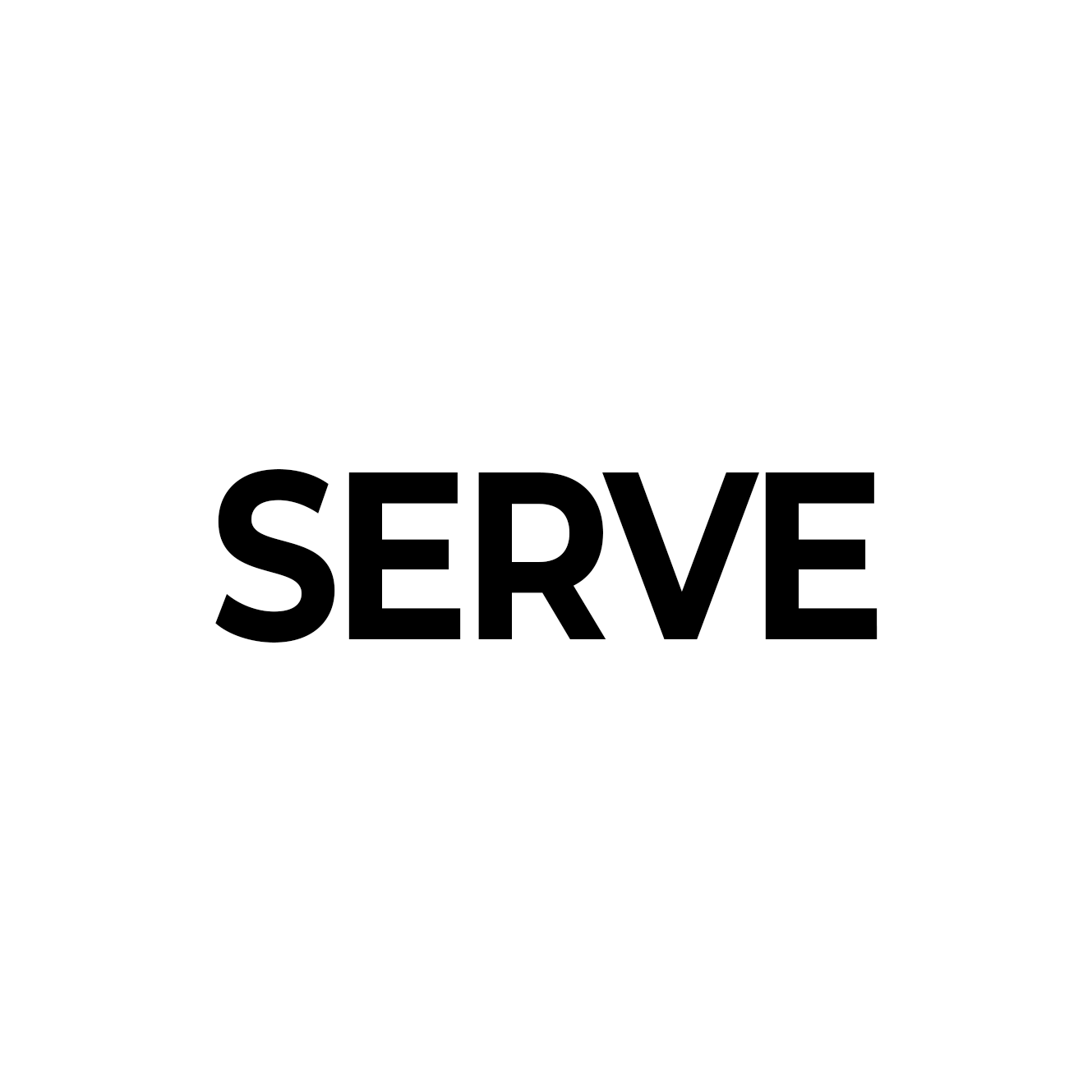 serve white word
